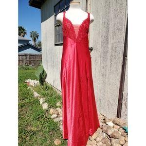 Vintage Gold Label Victoria's Secret Red Gown